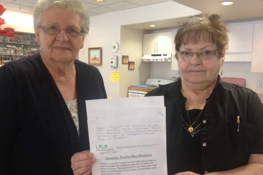 Regina seniors say used-furniture ban unfair to residents of low-income building