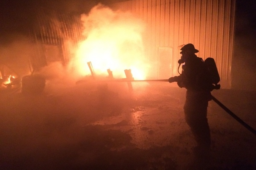 Update: Air quality testing done at scene of Shercom Industries fire north of Saskatoon