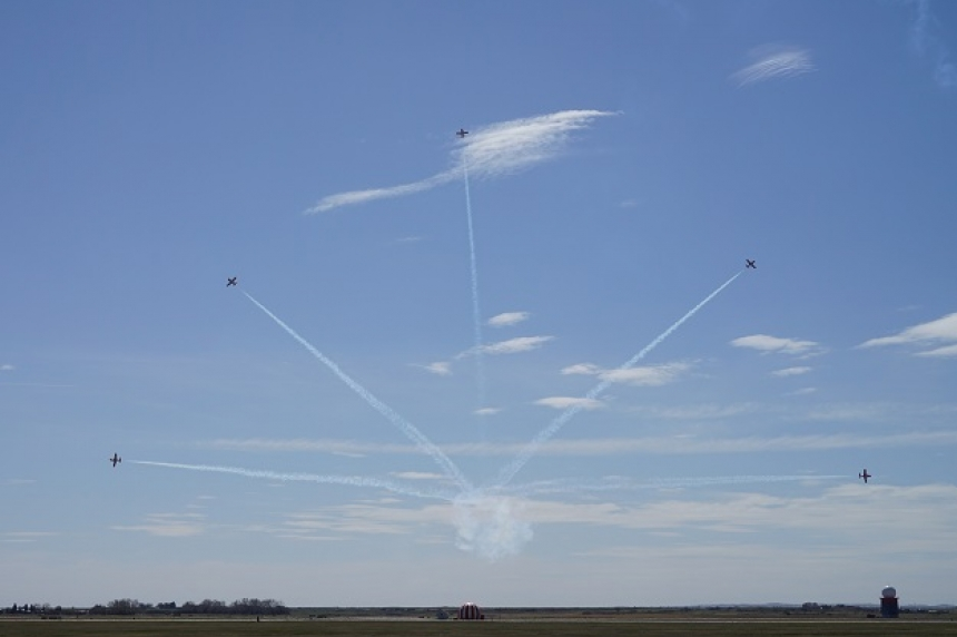 Snowbirds kick off season with show in Moose Jaw