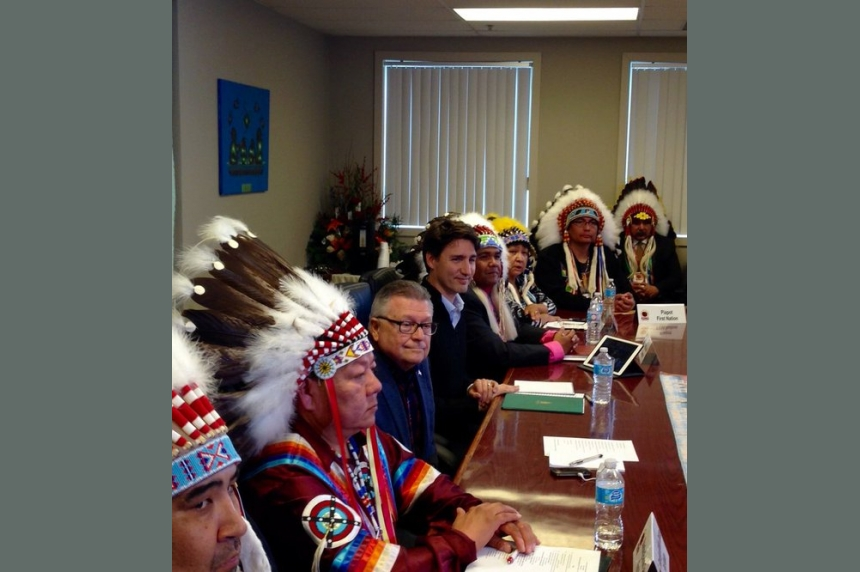 Trudeau recommits to new fiscal relationship with First Nations during Fort Qu'Appelle visit