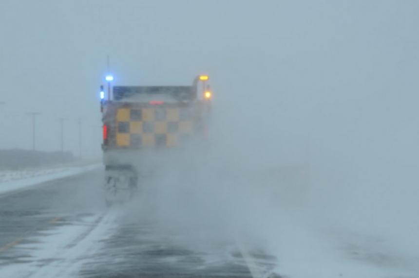 Travel warnings as Sask. hit with freezing rain, snow
