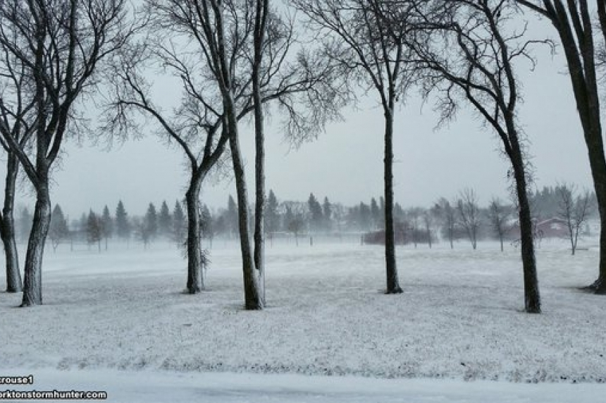 High winds and snow create poor driving conditions across southern Sask.