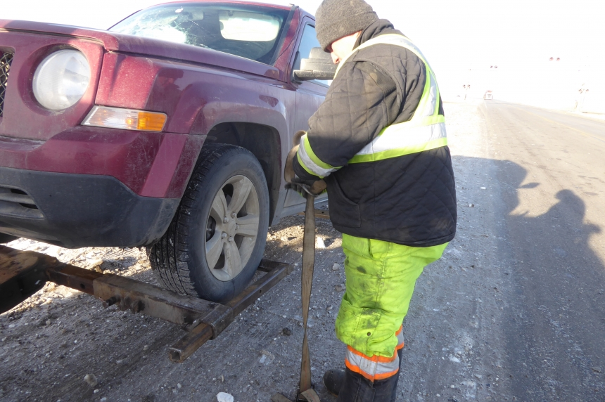 Frigid temperatures lead to busy weekend for tow trucks