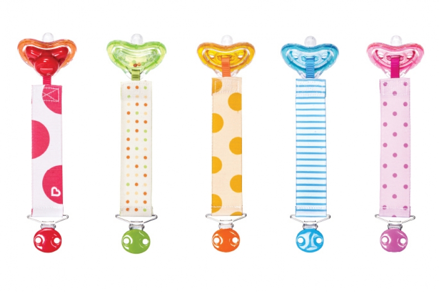 Baby pacifier and clip sets recalled over possible choking hazard