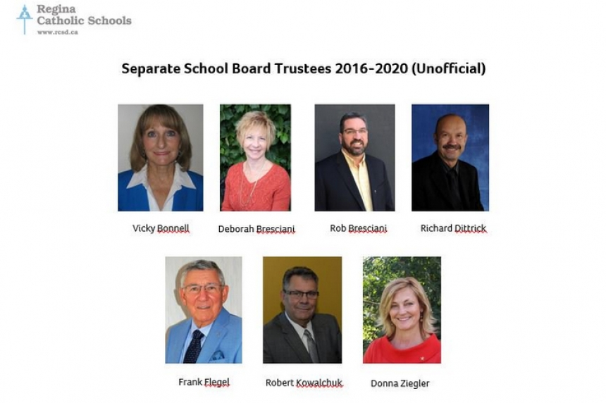 Regina school board trustee results