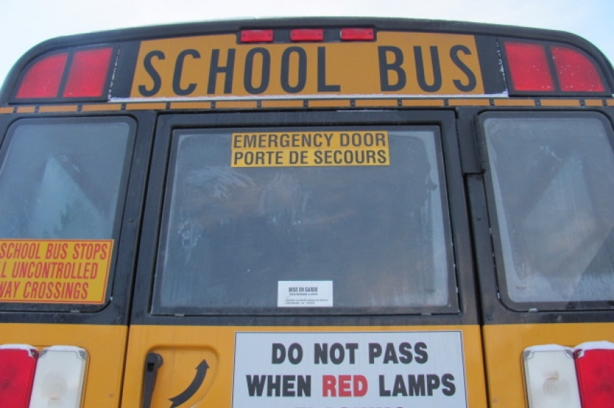 Minor rear-end crash between school buses in east Regina