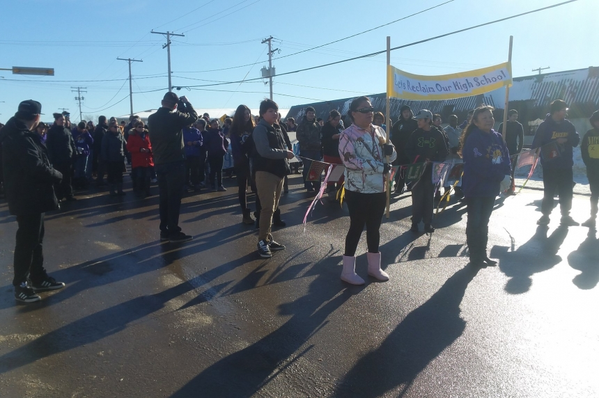 La Loche bands together as their high school reopens