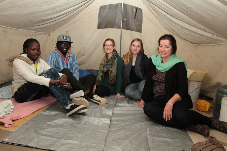 Mock refugee camp brings world issues home at U of S