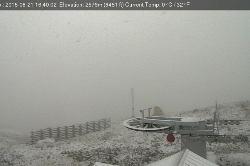 Snow in Alberta