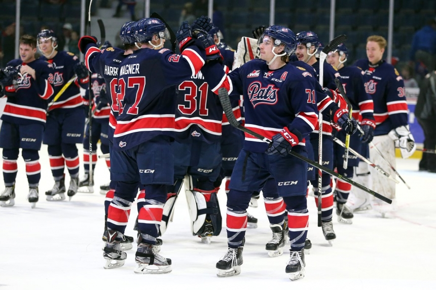 Pats win 7th straight, down Blades 5-2