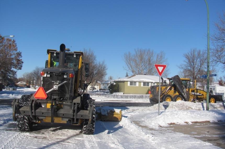 A white Christmas has plows busy in Saskatoon