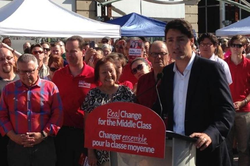 Liberal leader Justin Trudeau in Regina for election campaign