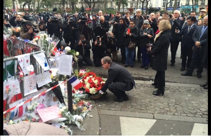 Sask. premier honours Paris attack victims