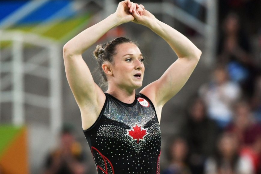 Canada's Rosie MacLennan wins trampoline gold at Rio Olympics