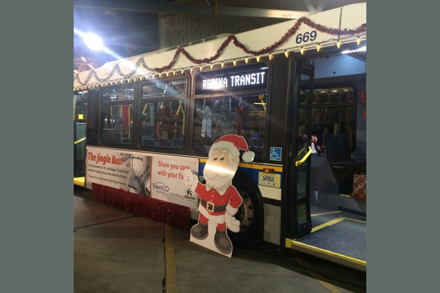 Hop aboard Regina's Jingle Bus: rides free this weekend with cash donation