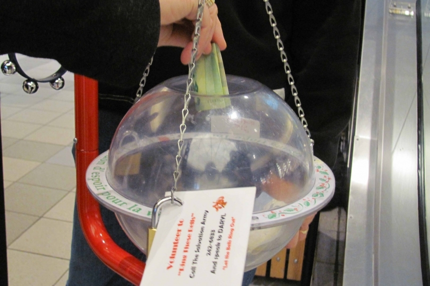 Salvation Army kettle campaign on track to beat Saskatoon goal