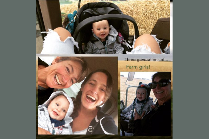 Sask. woman proves women integral to harvest with trending hashtag