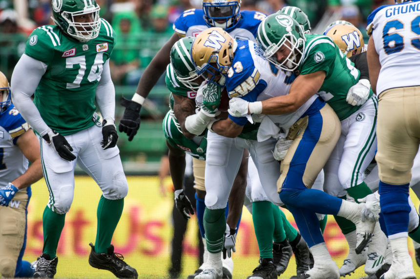 Astonishing 1st half propels Riders past Bombers