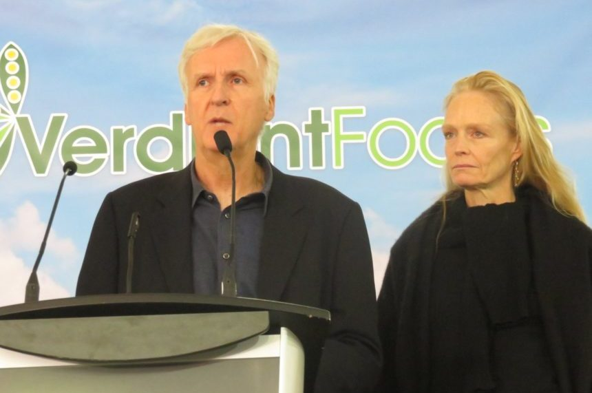 Director James Cameron opens pea processing plant in Sask.