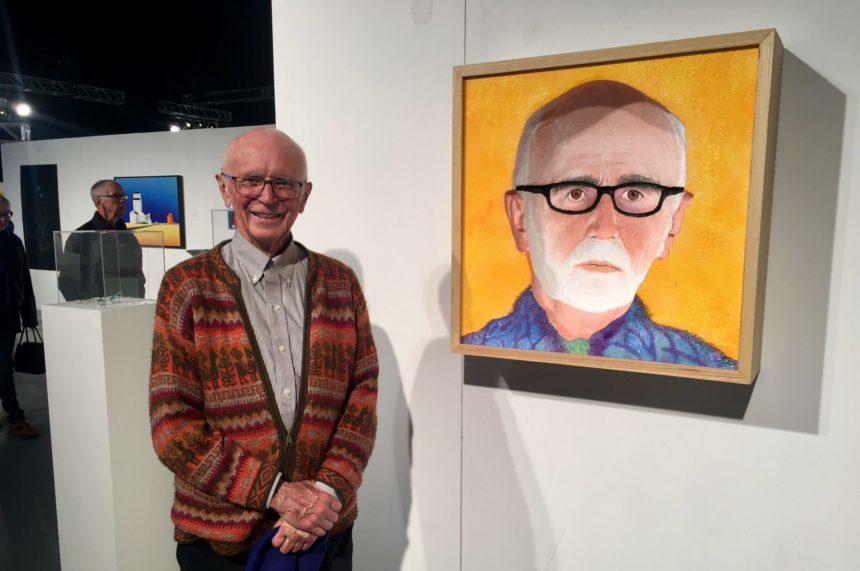 Local artist's self-portrait turns heads at Sask. Art Fair
