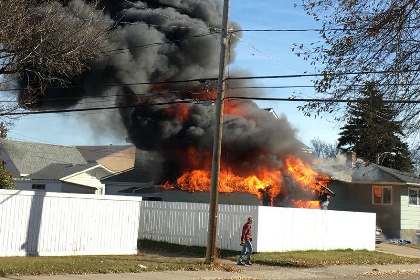 Moose Jaw garage fire causes $200K in damage