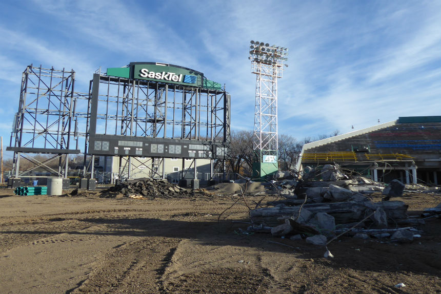 Inside the demolition zone at old Mosaic Stadium
