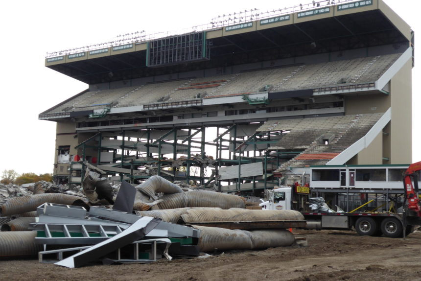 Old Mosaic Stadium continues to fall as demolition rolls on