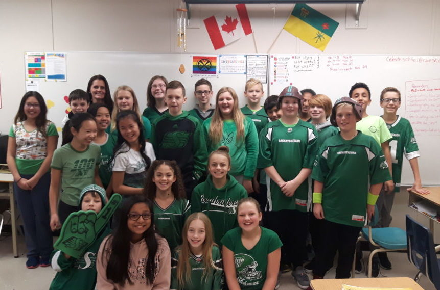 W.S. Hawryluk students celebrate Green Day in Regina