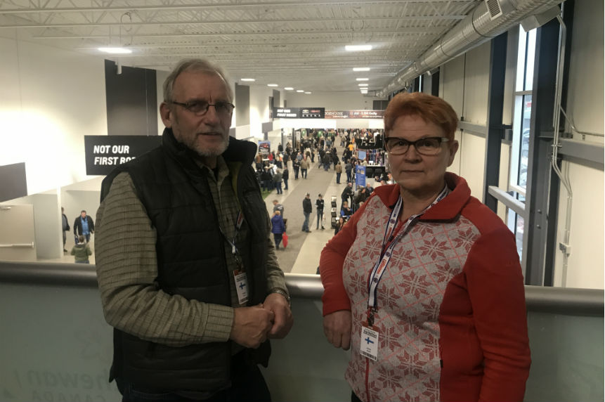 'The scale is so much bigger:' Finnish couple visit Agribition