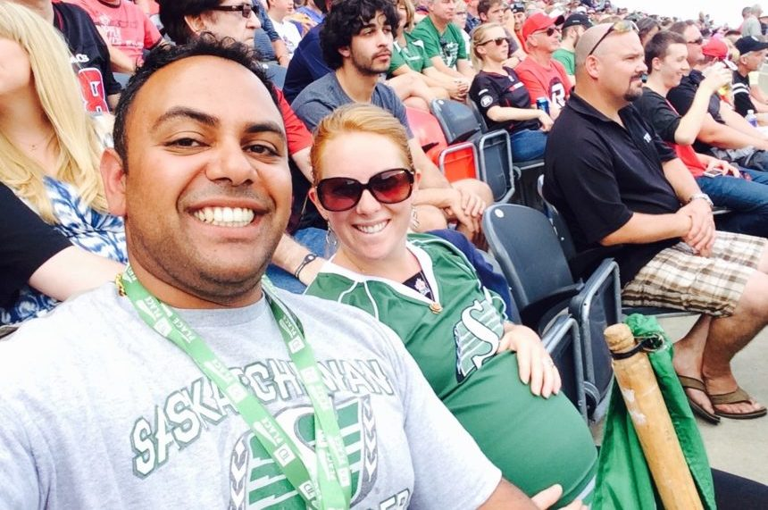 Sask.-B.C. couple ready to cheer on Riders in Ottawa