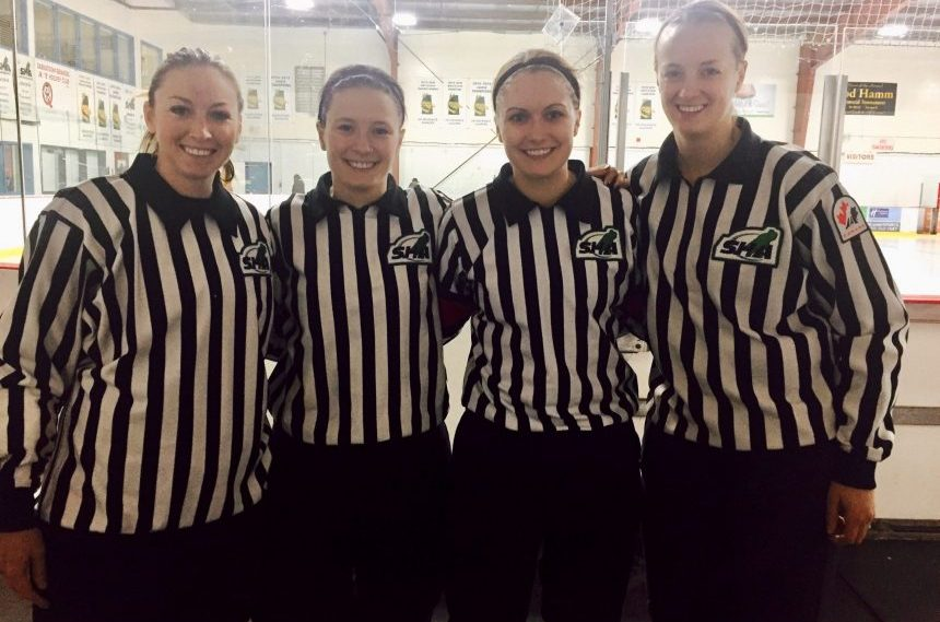First female-only reffing crew a skate in the right direction
