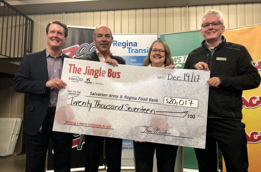 Jingle Bus campaign raises over $20,000 for Regina charities