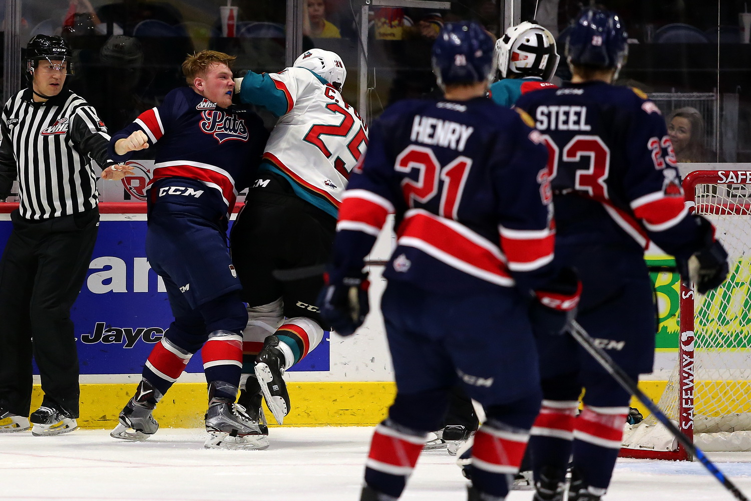 Teddies and fists fly in the Pats 7-5 loss to Kelowna