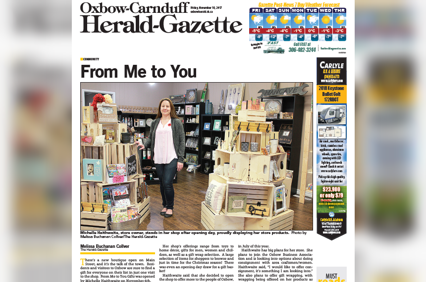 Historic Oxbow-Carnduff Herald-Gazette prints last edition