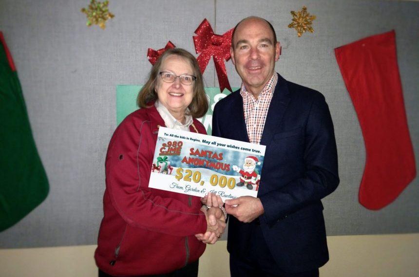 Rawlinson family donates $20,000 to Salvation Army
