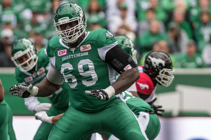 Riders lineman Bruce Campbell suspended for drug violation