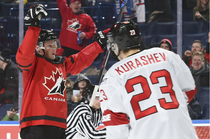 Canada advances to semi finals with 8-2 win over Switzerland