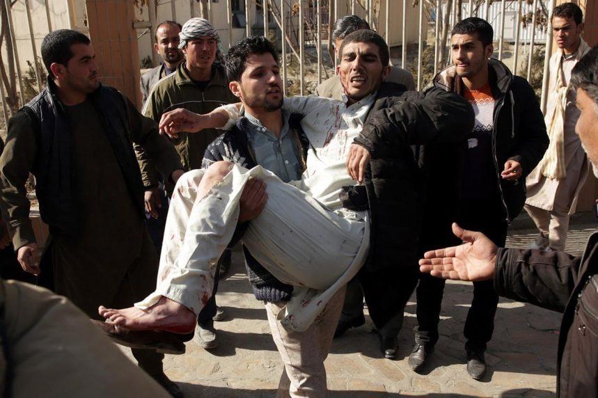 Bomber in ambulance detonates at Afghan checkpoint; 95 dead