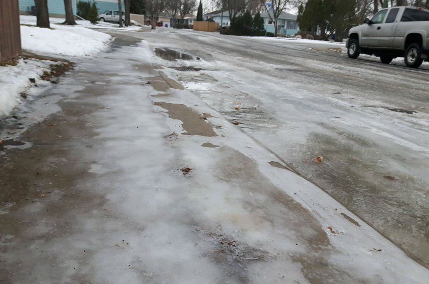 Frozen catch basins prompt warning from city