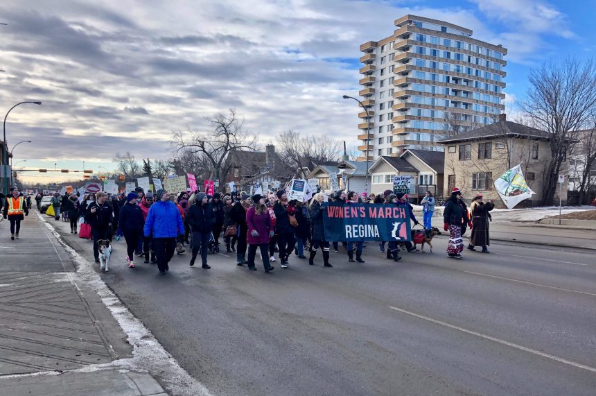 Women's March unifies hundreds in Regina