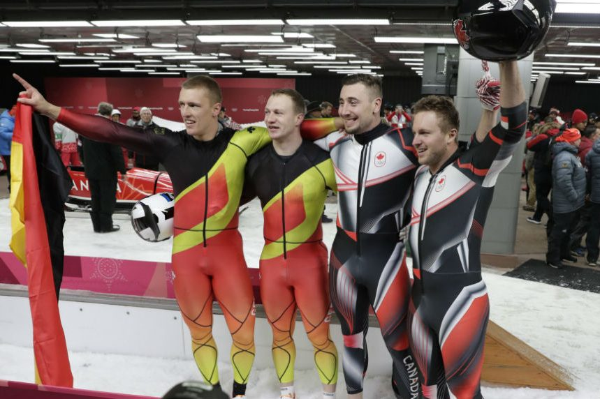Canada's Kripps, Kopacz tie Germans for two-man bobsled gold medal