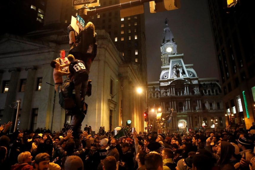 Philadelphians take to the streets to celebrate Super Bowl