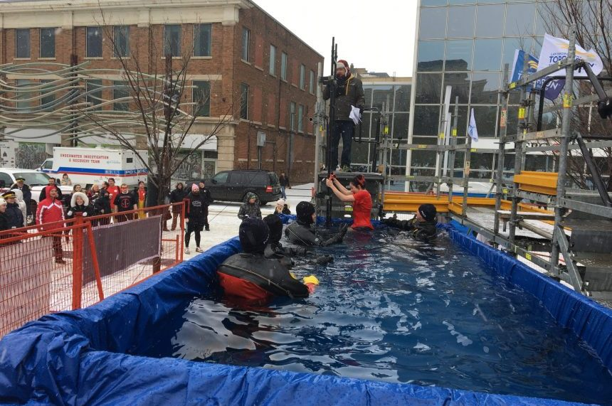 Annual polar plunge raises money for Special Olympics