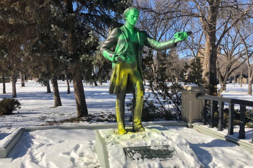 Victoria Park's John A. Macdonald statue vandalized