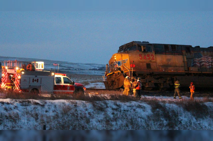 Train derailment just west of Swift Current