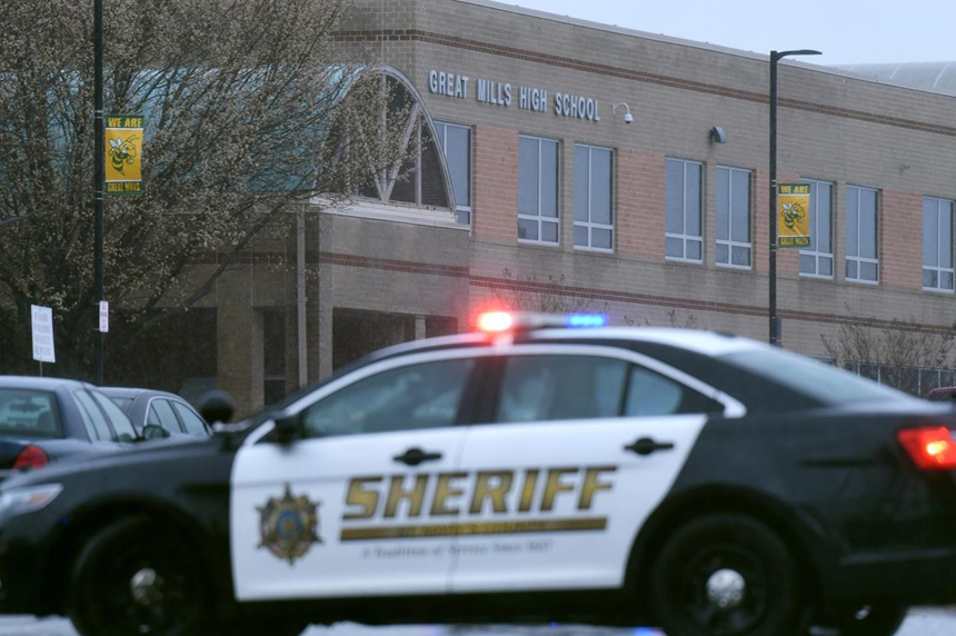 Sheriff official: 1 student dead, 2 wounded Maryland high school