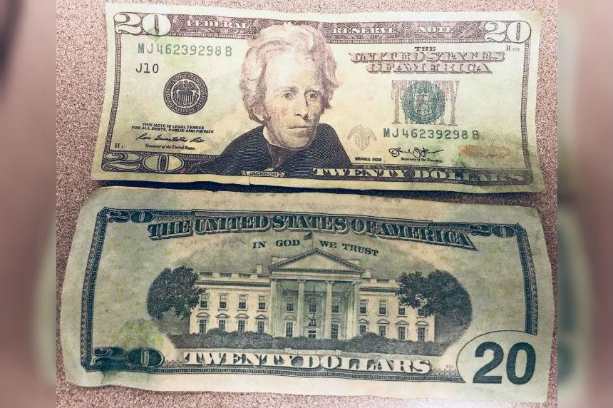 Moose Jaw police warn of fake American money