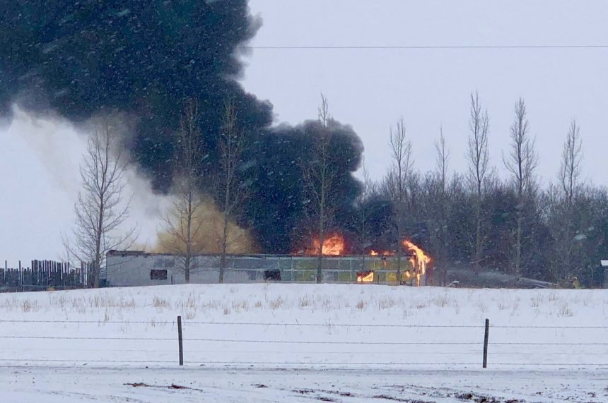 Man has serious burns after barn fire northeast of Regina