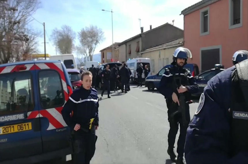 French police storm supermarket, kill hostage-taker; 3 dead