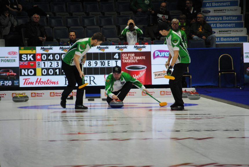 Saskatchewan clinches spot in championship pool